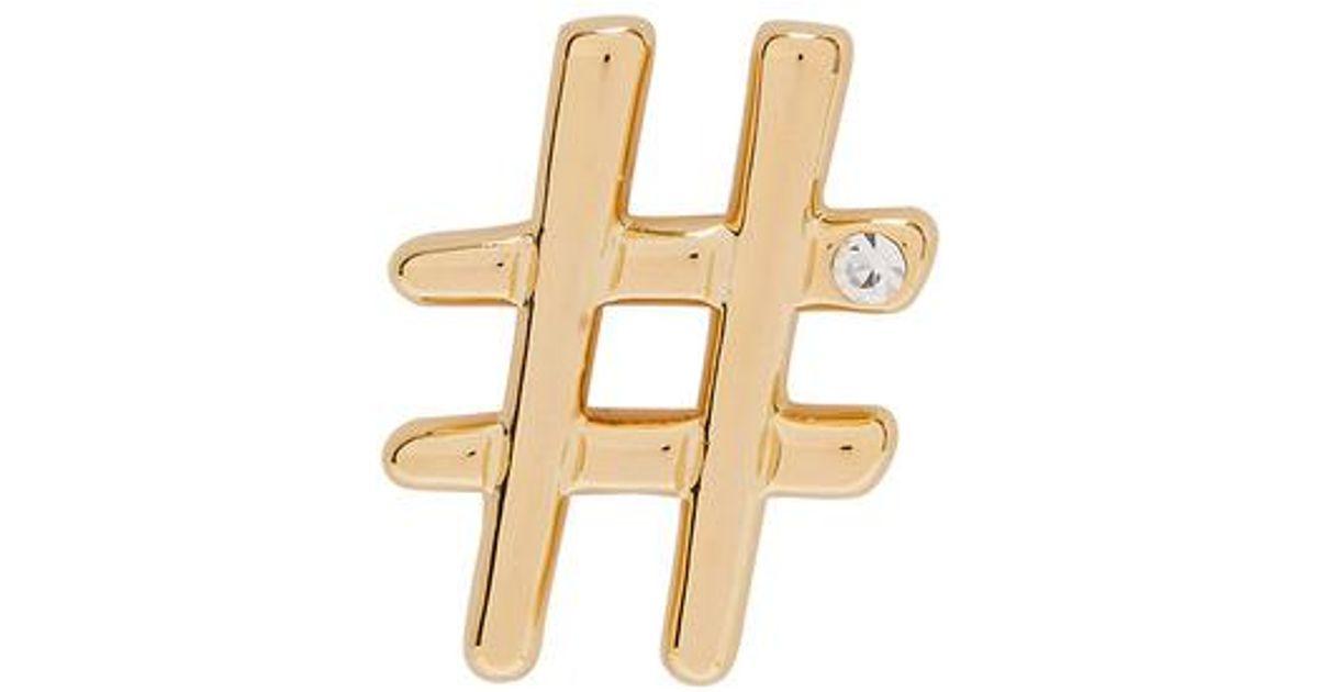 Hashtag Oro Broche De Marc Jacobs QXJP8opoww