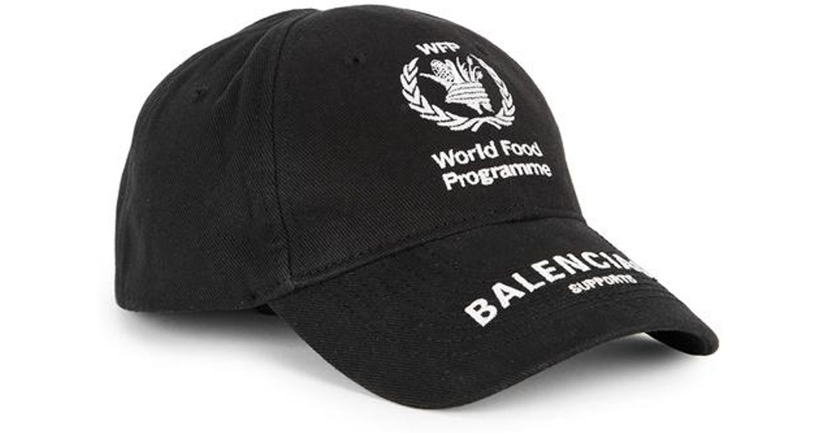8fb27bad Balenciaga World Food Programme Cap in Black for Men - Lyst