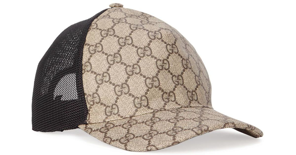 47cfed8829d Gucci Gg Monogrammed Coated Canvas Cap for Men - Lyst