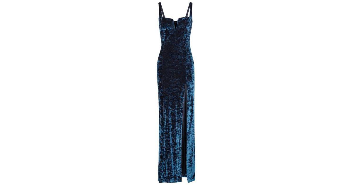 2c81739258e Galvan London Solstice Blue Velvet Gown in Blue - Lyst