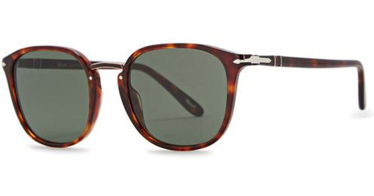 289bbe9c02 Lyst - Persol Po3186s Oval-frame Sunglasses for Men