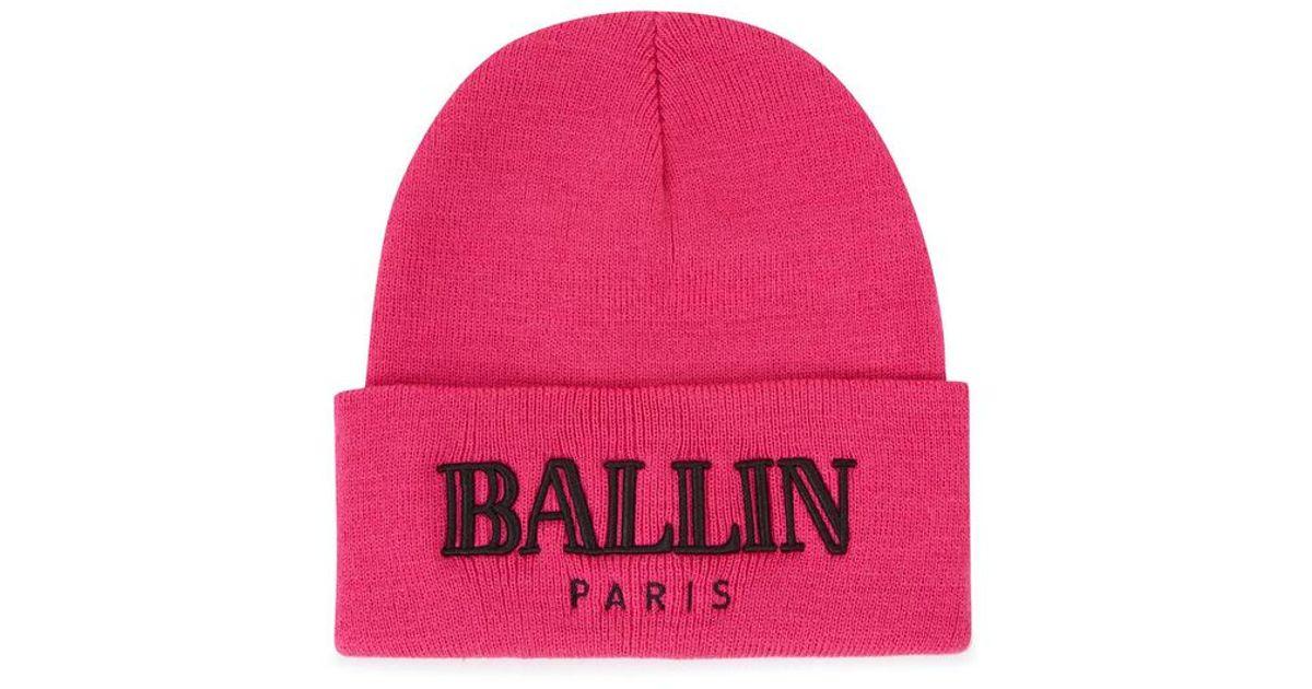 587c363f0f8 Brian Lichtenberg Ballin Bright Pink Knitted Beanie Hat in Pink - Lyst