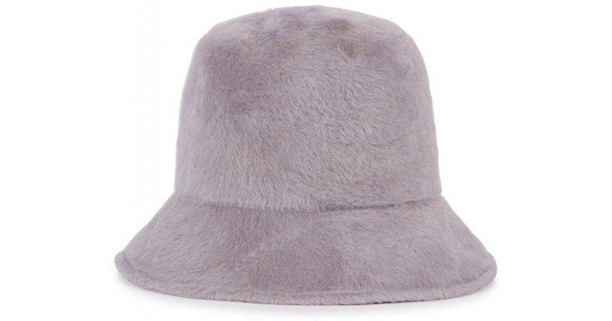Satya Twena Melo Grey Tall Felt Bucket Hat in Gray - Lyst f6ba7a08f11