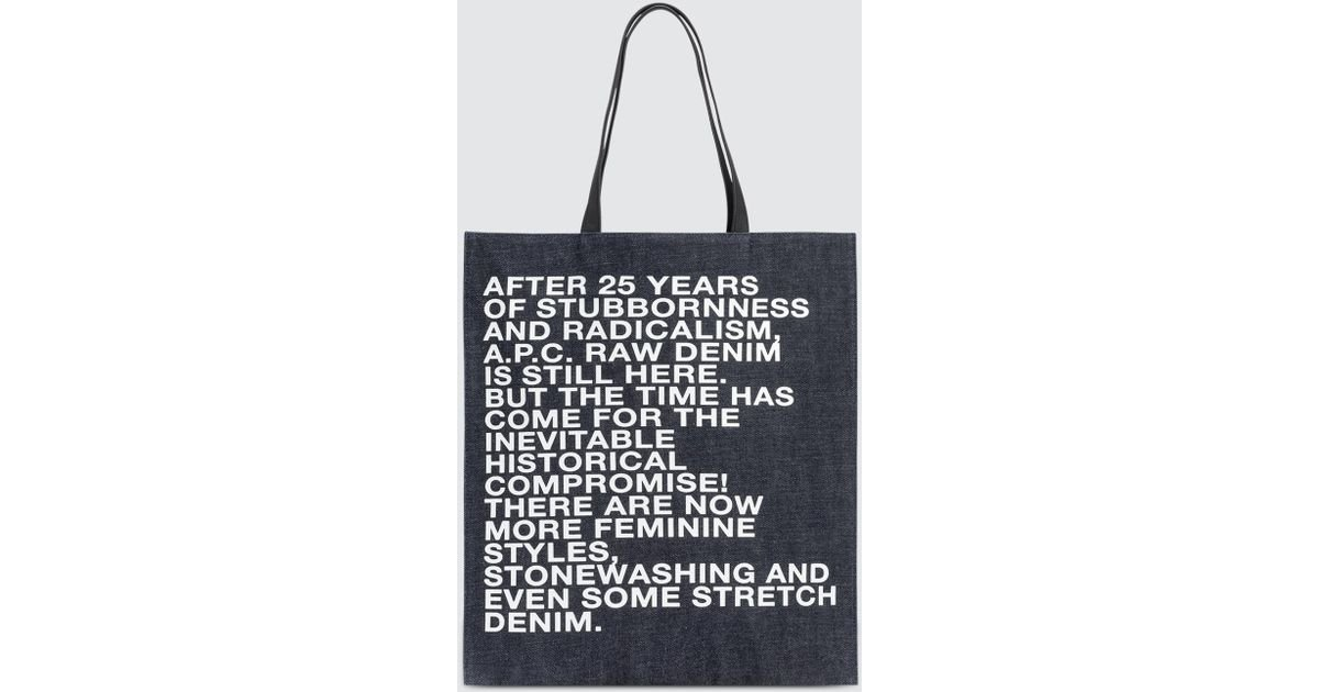 Gael shopping bag - Blue A.P.C. Outlet Where Can You Find Sale Sast Sale Looking For tJWrjMl7
