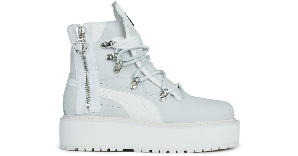d0572757914dd0 Lyst - PUMA Fenty By Rihanna Sb White Boots in White