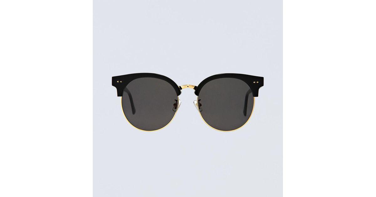 c3ba44aafb4 Gentle Monster Moon Cut Sunglasses in Black - Lyst