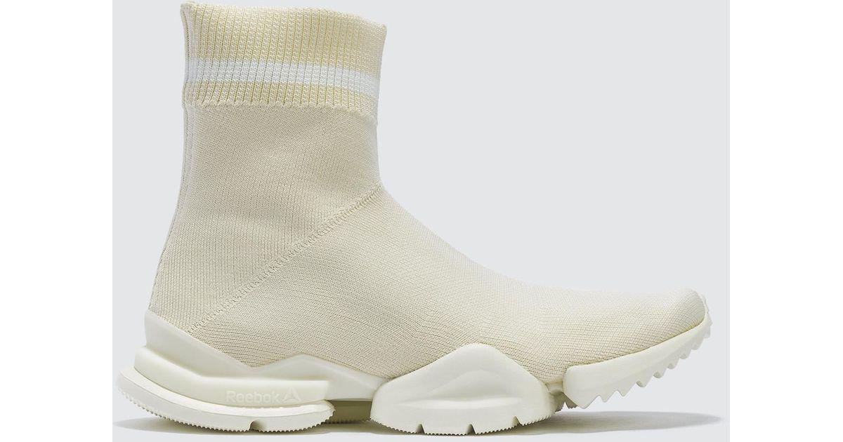 fe4edcf45486 Lyst - Reebok Sock Run r in White for Men