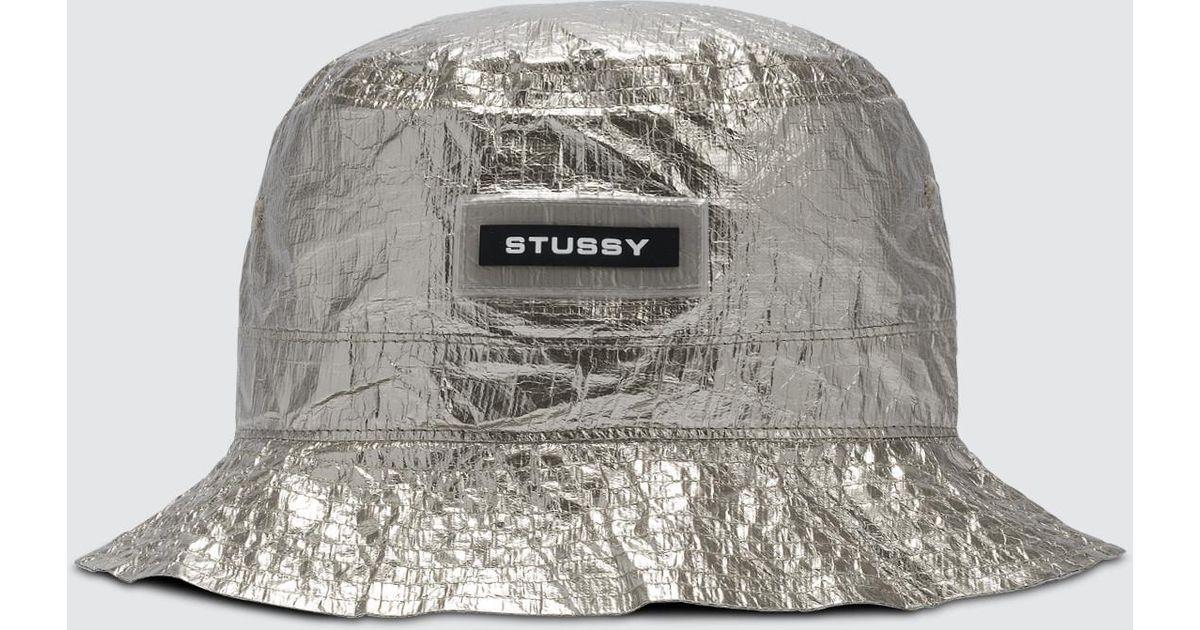 2b007aef467 Stussy Vera Bucket Hat in Metallic - Lyst