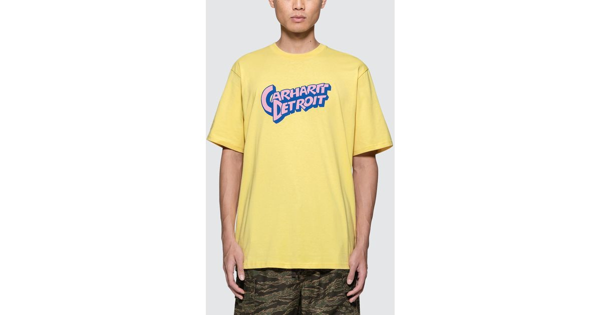 Lyst - Carhartt WIP Doctor Detroit S s T-shirt in Yellow for Men 9bfdc187a