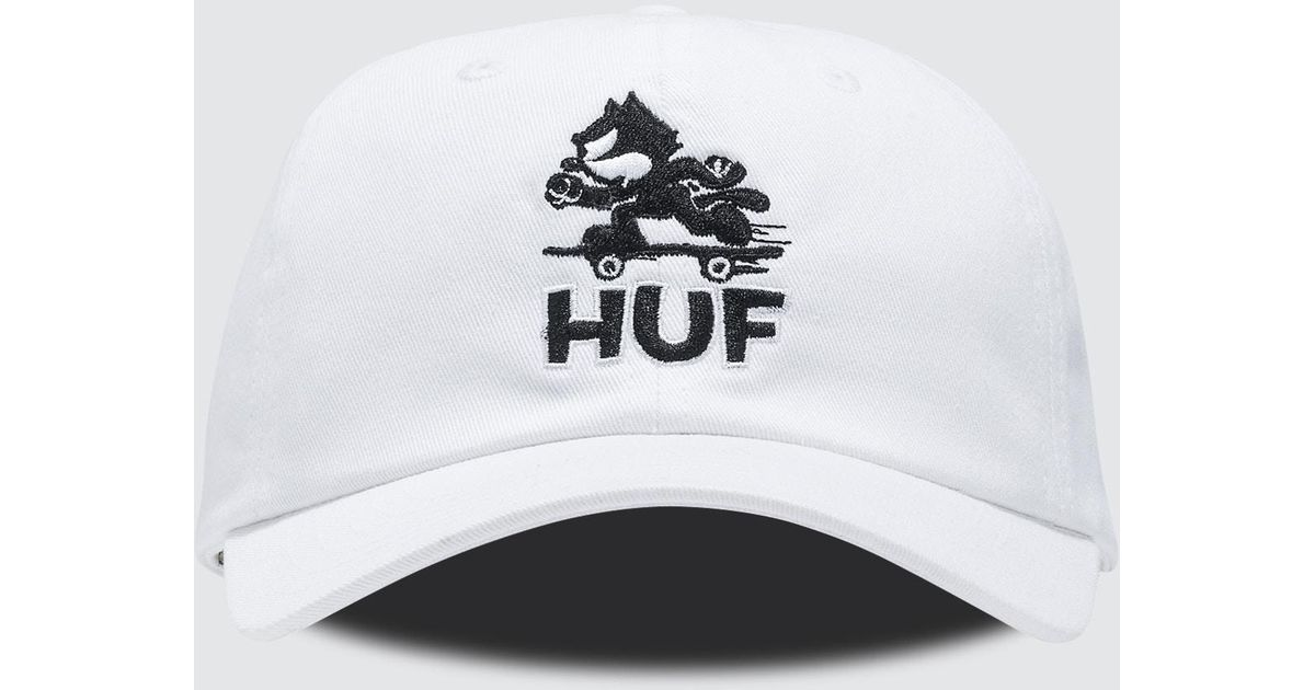 d0ed59054b3 Lyst - Huf Felix Skate Curve Brim Cap in White for Men