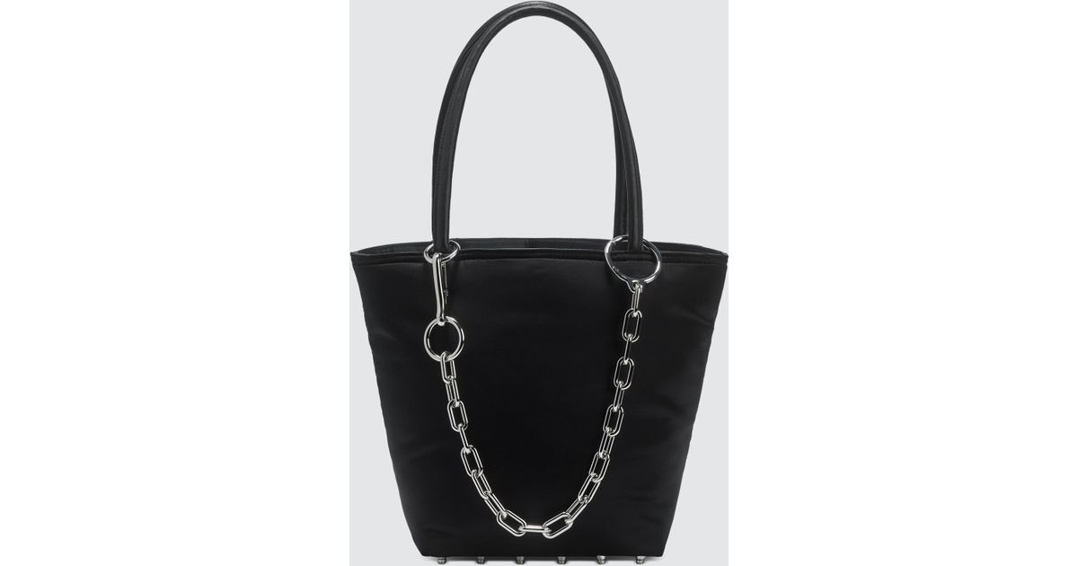 6004a0a251 Lyst - Alexander Wang Roxy Soft Puffy Nylon Small Tote in Black