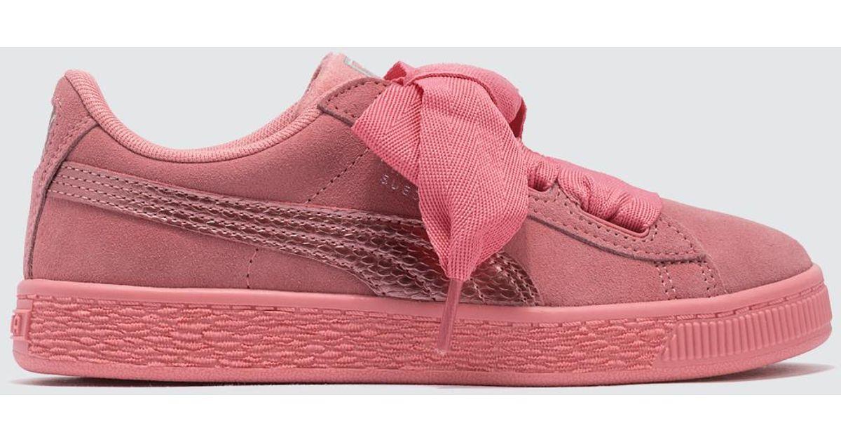 5462c6a30eba Lyst - PUMA Suede Heart Sneaker Ps in Pink