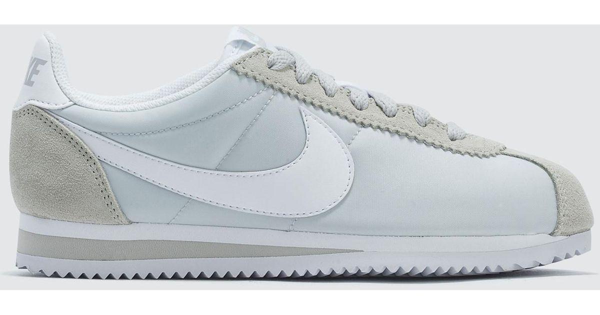 0965629fd8e4d9 Lyst - Nike Wmns Classic Cortez Nylon in White