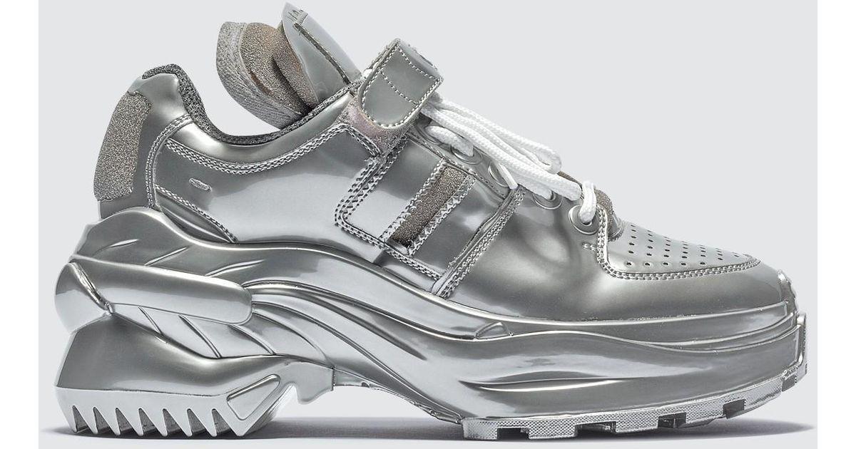 promo code c3450 ef557 Lyst - Maison Margiela Retro Low Fit Metallic Sneakers in Metallic