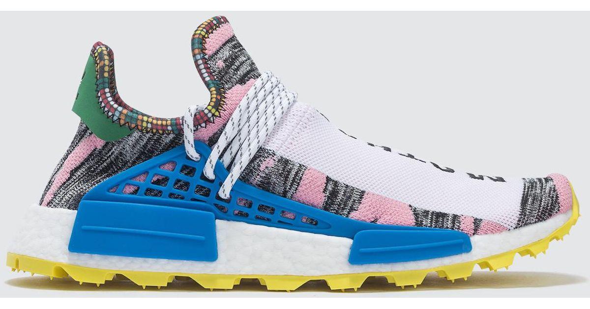 1329fc1feb054 Lyst - adidas Originals Pharrell Williams X Adidas Solar Hu Nmd in Blue for  Men