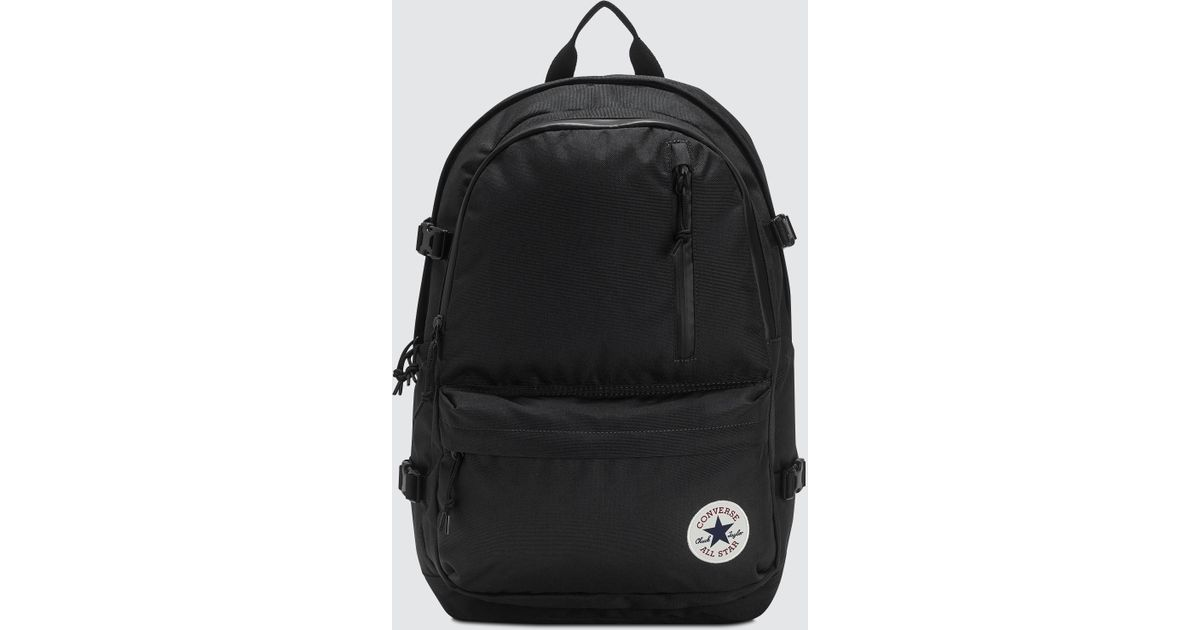 Converse Straight Edge Backpack in Black for Men - Lyst 41de25bd83f1b