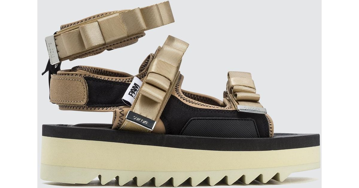 dc6fe4836baf Suicoke P.a.m. X Walk To Me Sandals in Natural - Lyst