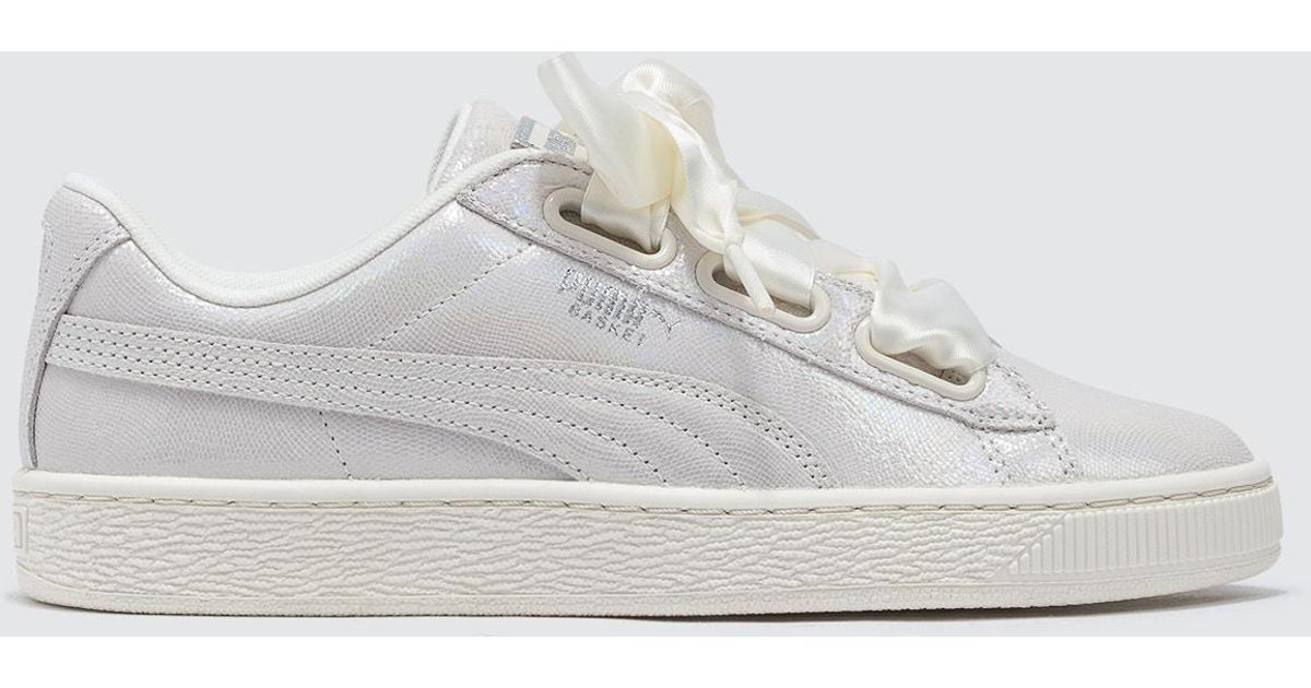 Puma Basket Heart Ns Wn's White Lyst dthrCsQ