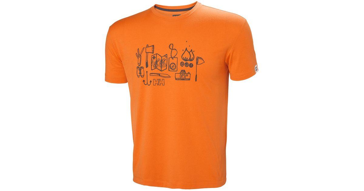 033eafaa3b60 Lyst - Helly Hansen Skog Graphic Tshirt in Orange for Men