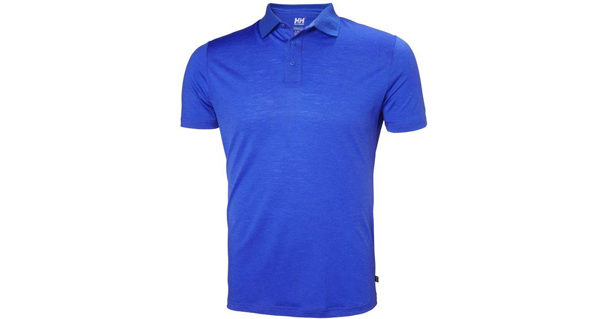 e3c73327 Lyst - Helly Hansen Hh Merino Light Ss Polo in Blue for Men