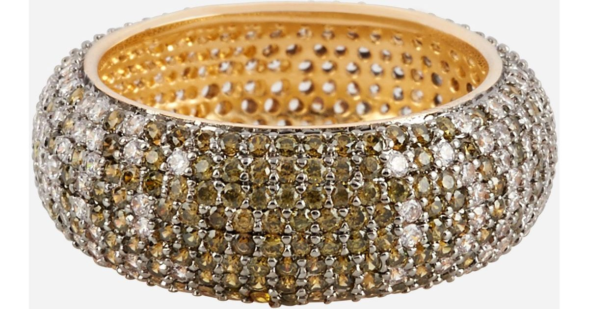 Henri Bendel Luxe Pave Ribbon Ombre Ring H0ttNx