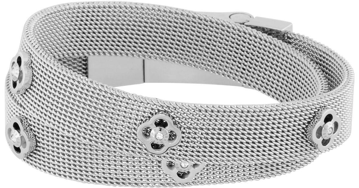 Lyst Henri Bendel Petal Wrap Bracelet Choker In Metallic