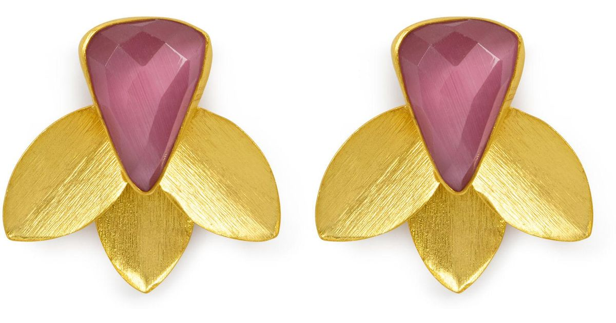 Henri Bendel Elle Gemz Semi Triangle Stud Earring F9iX7wo