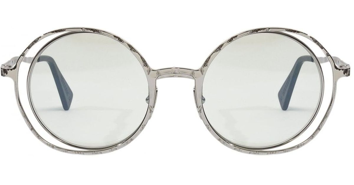 Lyst - Kuboraum Double Wire Oversized Circle Frame Sunglasses Silver ...
