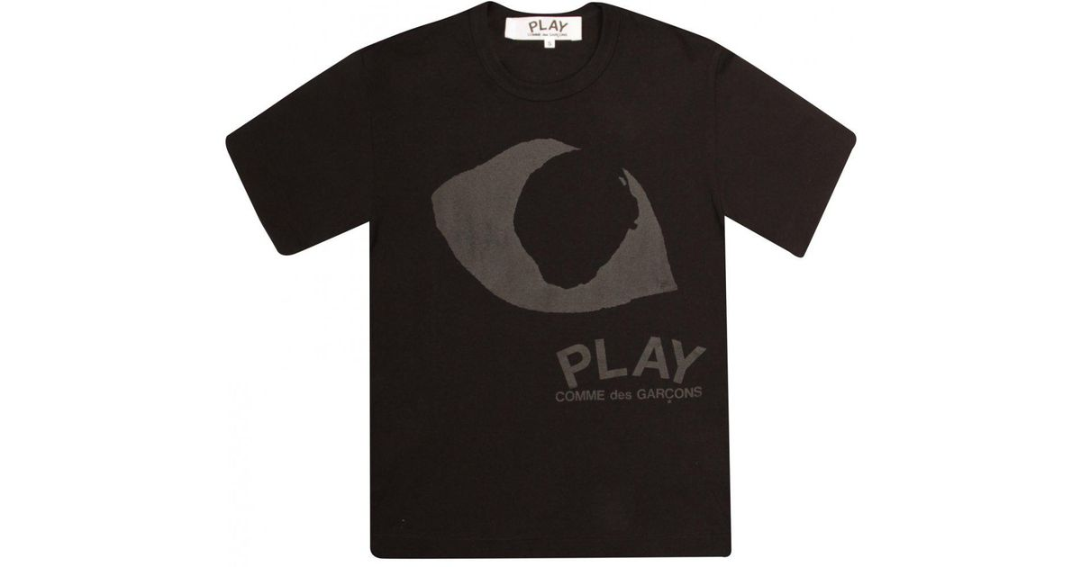 Comme Des Garçons Play Womens Black Collection Large Eye T-shirt Black in  Black - Lyst 5ba253792