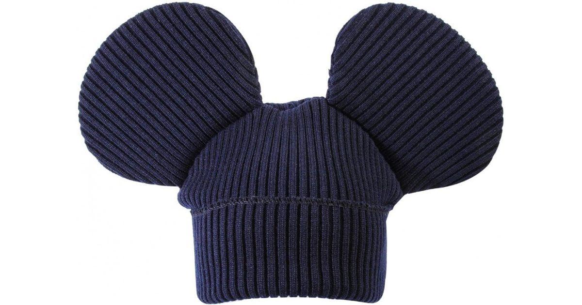 Comme des Garçons Mouse Ears Hat in Blue - Lyst 7a61afacca71