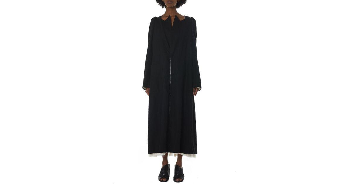 2dc1f82c6e3 Undercover Reversible Silk Coat in Black - Lyst