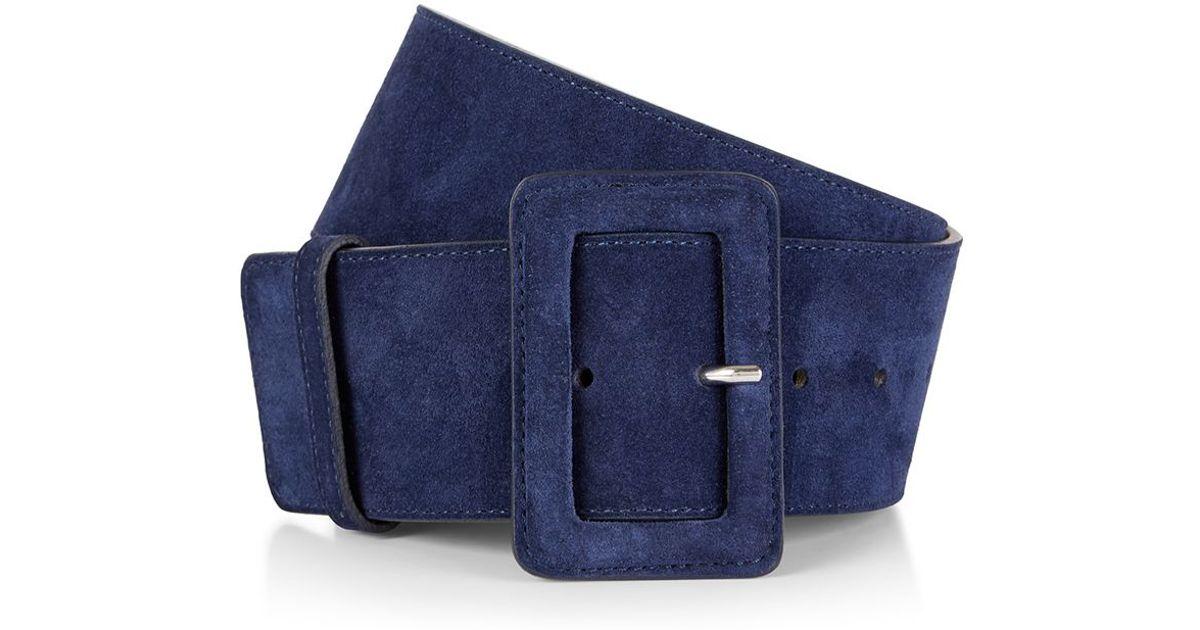 hobbs louise wide belt in blue navy lyst