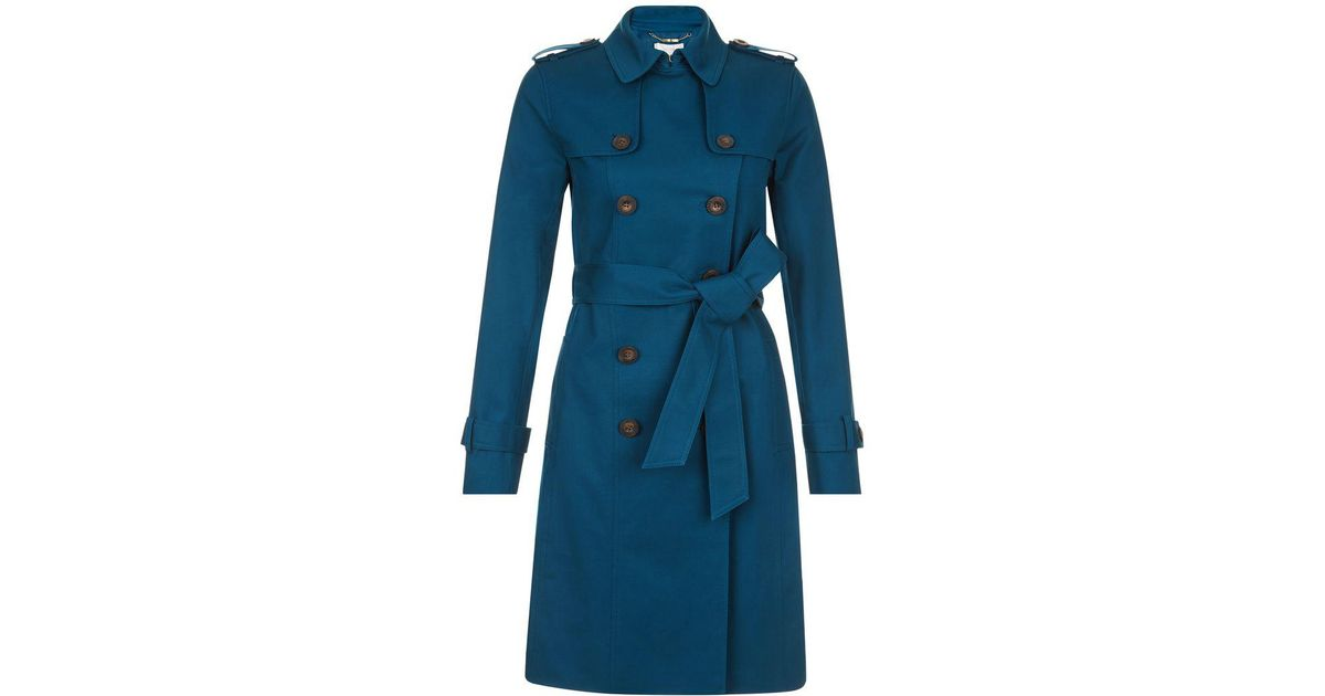to buy latest style hot new products Hobbs Blue Saskia Trench