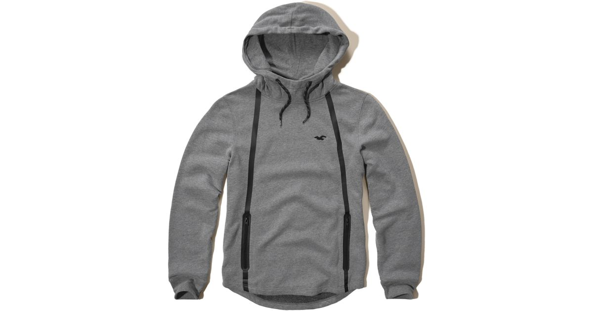 Hollister Sweaters Hollister Hoodies Hollister Shirts Hollister Jacket Hollister Pants Hollister Jeans: Hollister Contrast Icon Hoodie In Gray For Men