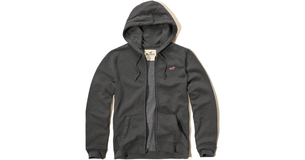 Hollister Sweaters Hollister Hoodies Hollister Shirts Hollister Jacket Hollister Pants Hollister Jeans: Hollister Iconic Fleece Hoodie In Gray For Men
