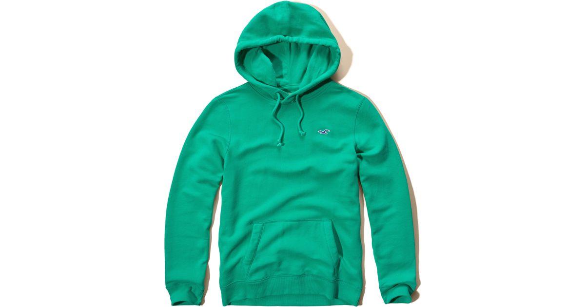 Hollister Sweaters Hollister Hoodies Hollister Shirts Hollister Jacket Hollister Pants Hollister Jeans: Hollister Iconic Fleece Hoodie In Green For Men