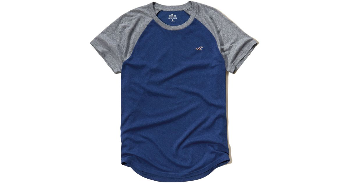 Hollister must have colorblock raglan t shirt in blue for for Must have dress shirts