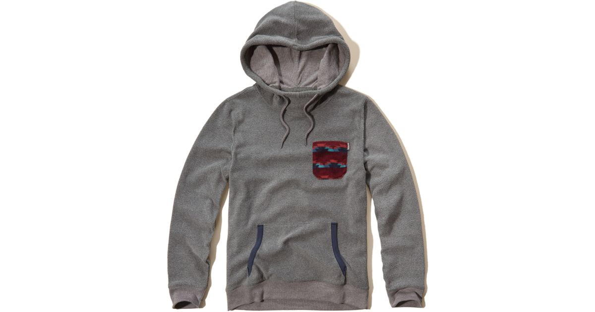 Hollister Thermal Fleece Hoodie In Gray For Men
