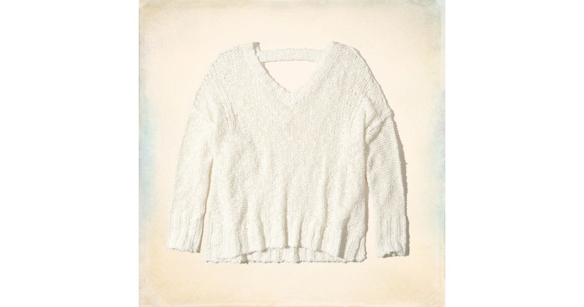 Hollister Oversized Open Back Sweater | Lyst