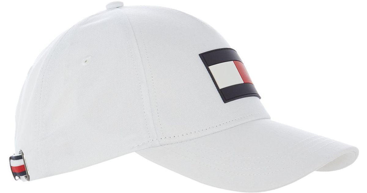 3031be1d Tommy Hilfiger Flag Baseball Cap in White for Men - Lyst