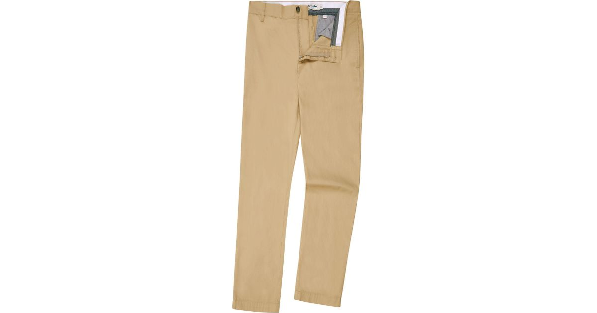 fc76a79f7f Lacoste - Natural Men's Cotton Gabardine Chino Pants for Men - Lyst