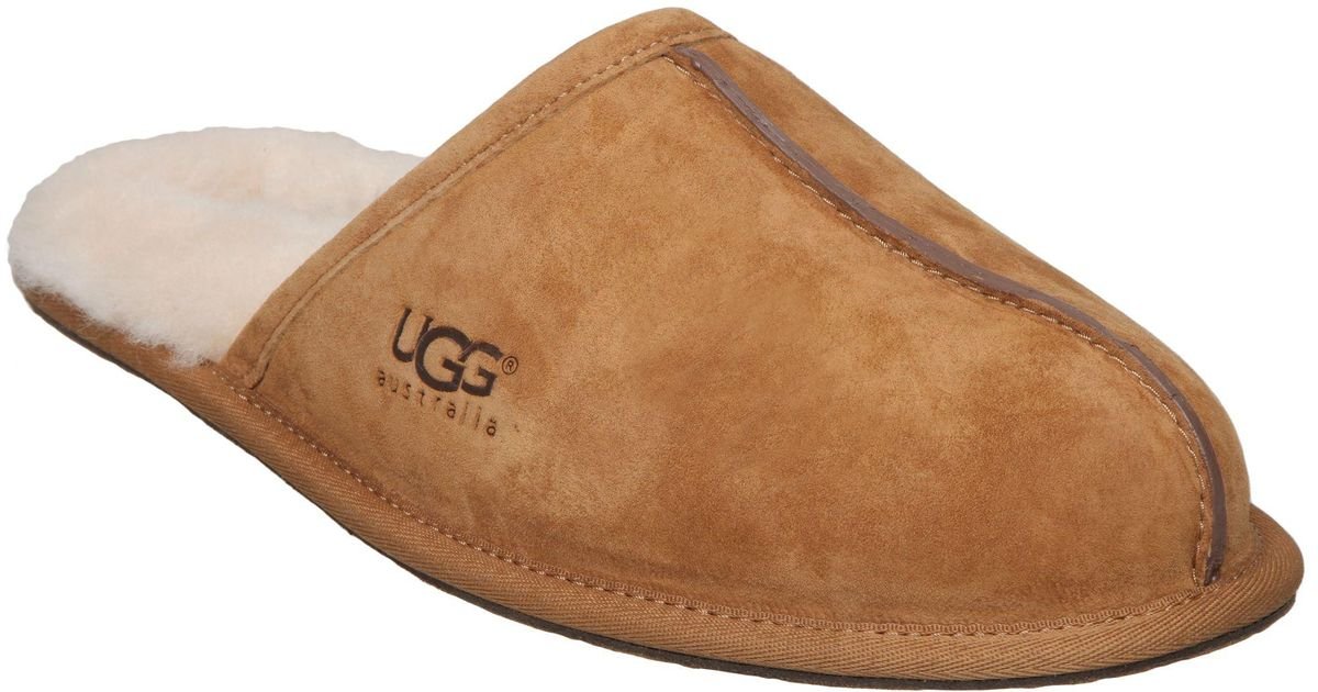Lyst ugg m scruff slippers in brown for men for Quality classic house of fraser