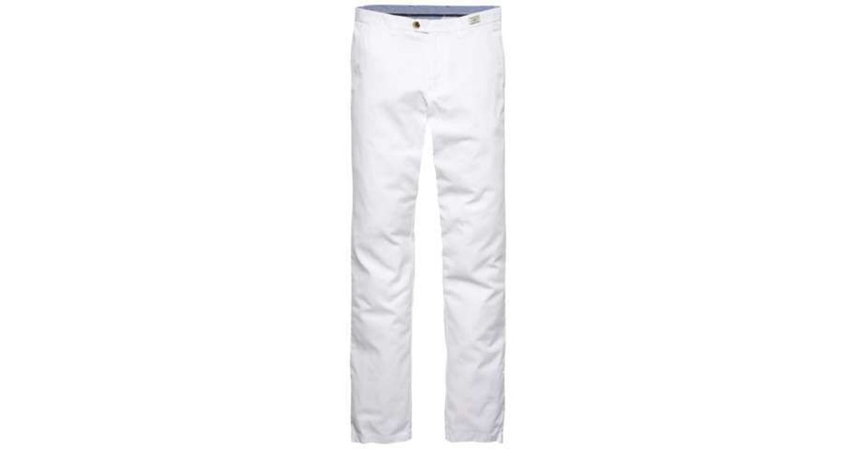 tommy hilfiger mercer chino boston twill in white for men. Black Bedroom Furniture Sets. Home Design Ideas