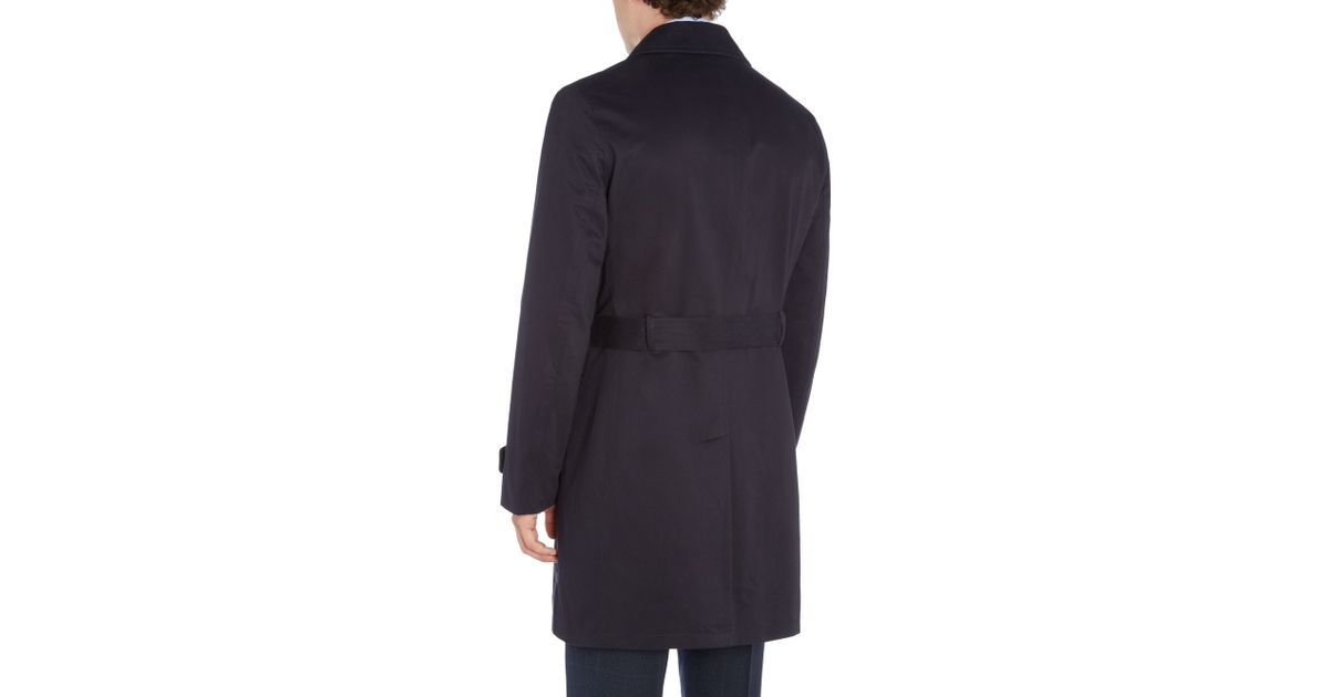 Howick dale classic trench coat in blue for men navy lyst for Quality classic house of fraser