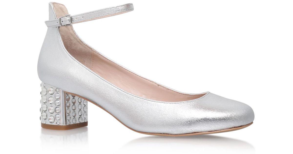 Carvela kurt geiger Guess High Heel Sandals in Metallic   Lyst