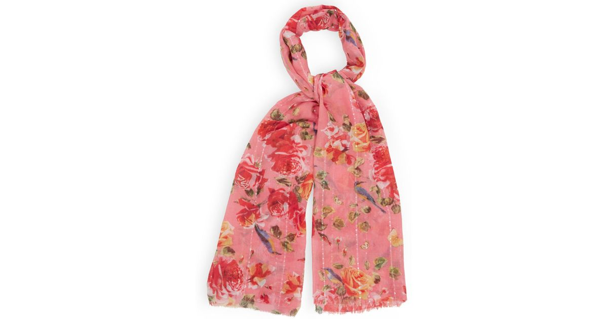 oasis butterfly scarf in pink lyst