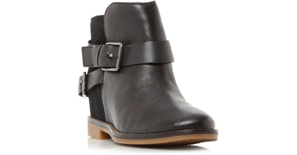 0b9ade81fe12 Hush Puppies Baubie Felise Strap Detail Ankle Boots in Black - Save 21% -  Lyst