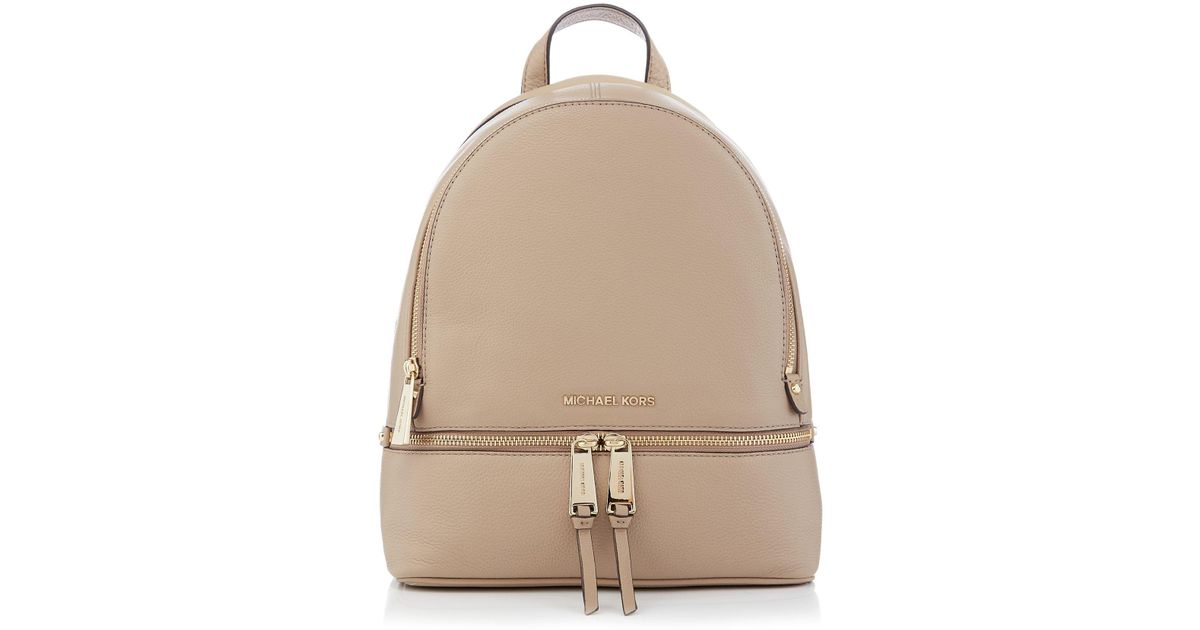86a4ec6b8e5a73 Michael Kors Rhea Zip Medium Backpack in Brown - Lyst