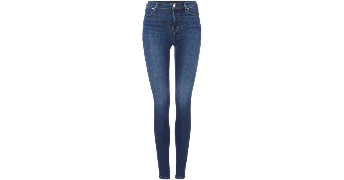 b60a4b56d33 Lyst - J Brand Maria High Rise Skinny Jeans In Fleeting in Blue