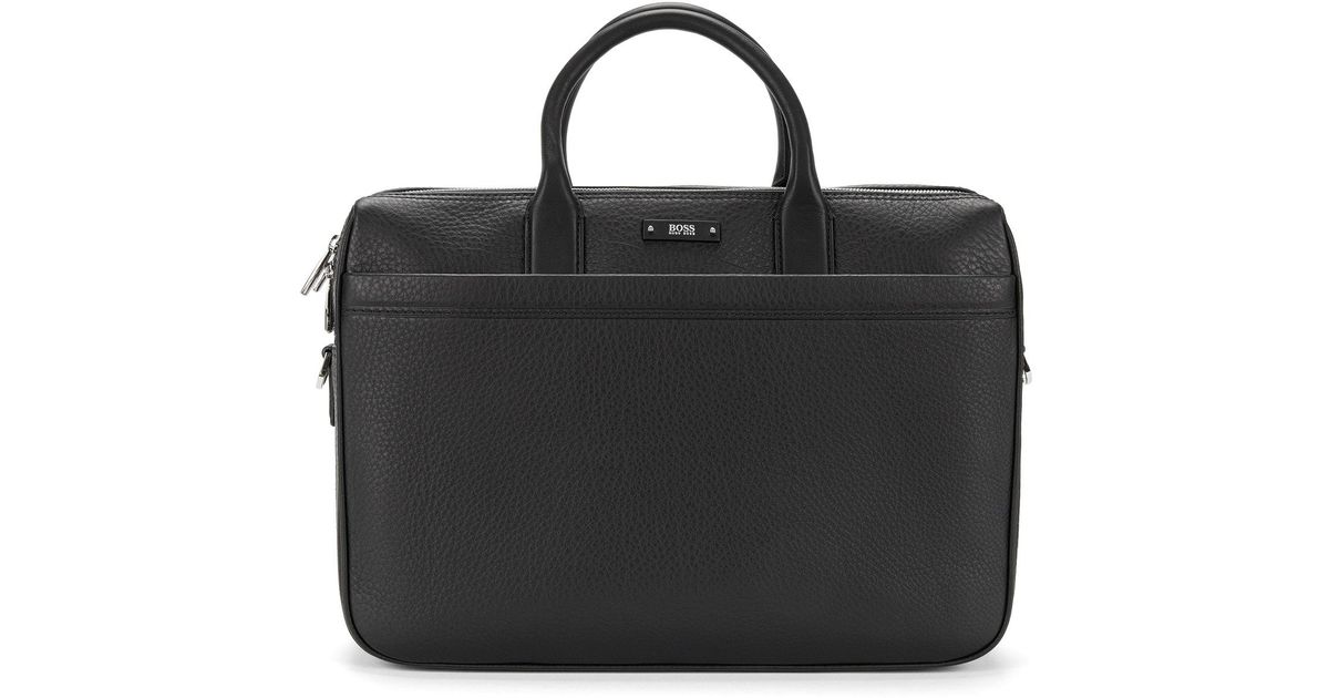 1a6b0b2ad BOSS Leather Work Bag | Traveller D Doc in Black for Men - Lyst